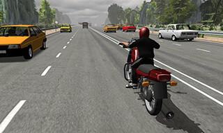 Russian Moto Traffic Rider 3D скриншот 1