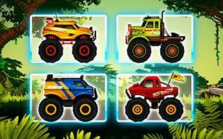 Jungle Monster Truck Kids Race скриншот 1