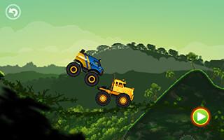 Jungle Monster Truck Kids Race скриншот 2