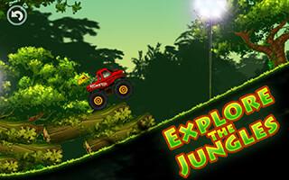 Jungle Monster Truck Kids Race скриншот 3