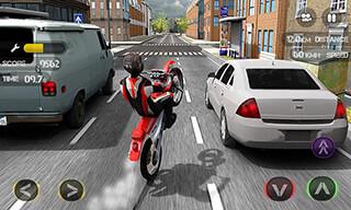 Race the Traffic Moto скриншот 1