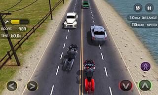 Race the Traffic Moto скриншот 2
