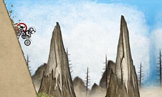 Stickman Downhill: Motocross скриншот 2