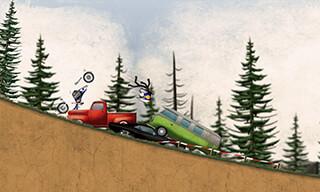 Stickman Downhill: Motocross скриншот 3