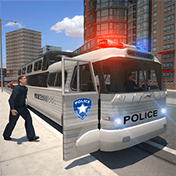Police Bus Prison Transport 3D иконка