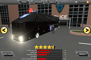 Police Bus Prison Transport 3D скриншот 2