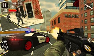 Bank Robbery Crime LA Police скриншот 1