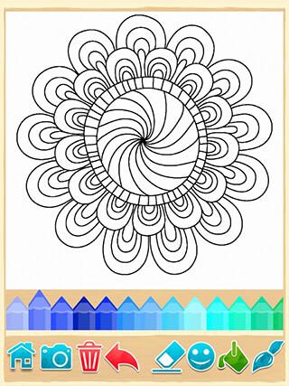 Mandala Coloring Pages скриншот 1