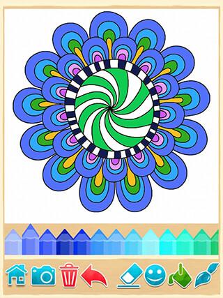 Mandala Coloring Pages скриншот 2
