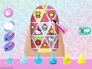 Hello Kitty Nail Salon скриншот 2