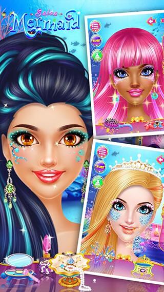 Mermaid Makeup Salon скриншот 3