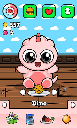 Baby Dino: Virtual Pet Game скриншот 2