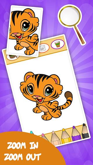 Coloring Games for Kids: Animal скриншот 1