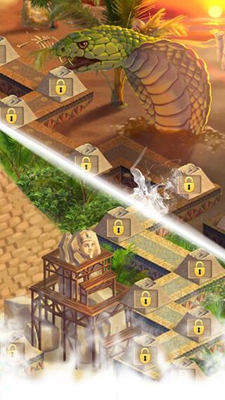 Curse of the Pharaoh: Match 3 скриншот 3