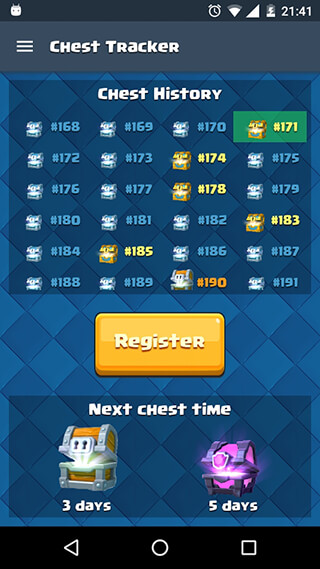 Chest Tracker Calculator скриншот 2