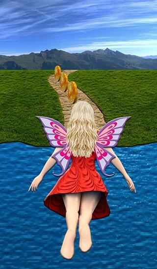 Flying Girl Runner скриншот 3