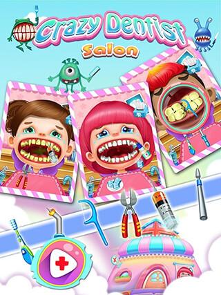 Crazy Dentist Salon Girl Game скриншот 1