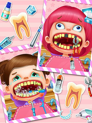 Crazy Dentist Salon Girl Game скриншот 3