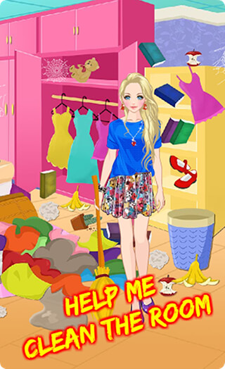 Messy House: Bedroom Cleaning скриншот 1