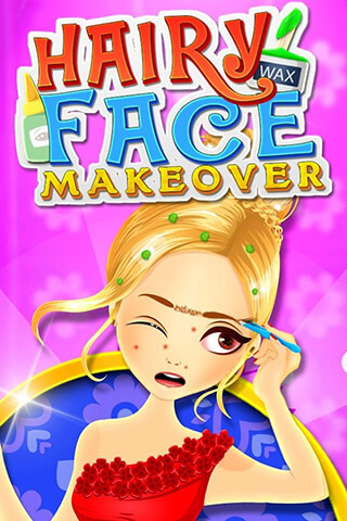 Hairy Face Makeover Salon скриншот 1