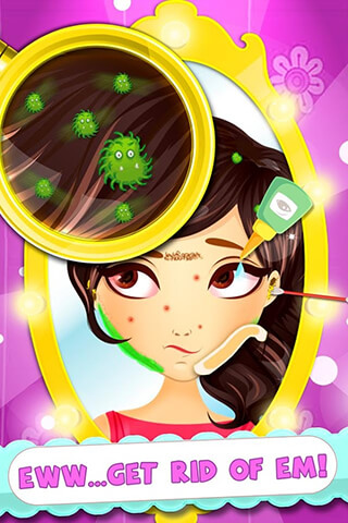 Hairy Face Makeover Salon скриншот 2