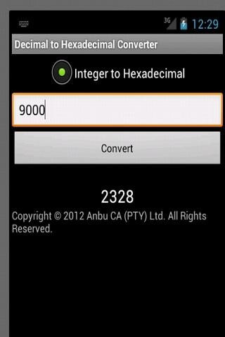 Super Decimal to Hexadecimal скриншот 1