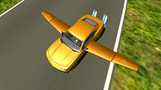 Flying Muscle Car Simulator 3D скриншот 4