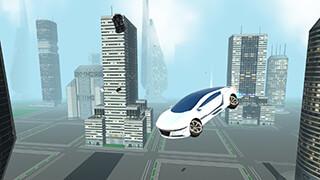 Futuristic Flying Car Driving скриншот 1