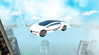 Futuristic Flying Car Driving скриншот 2
