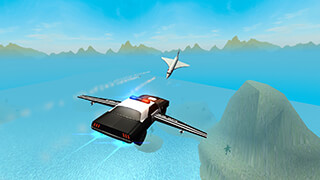 Flying Car Free: Police Chase скриншот 2