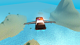 Flying Car Free: Police Chase скриншот 4