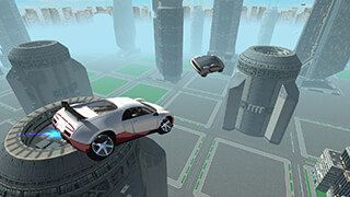 Flying Future Super Sport Car скриншот 2