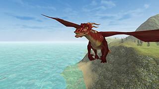 Flying Fire Drake Simulator 3D скриншот 1
