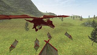 Flying Fire Drake Simulator 3D скриншот 2