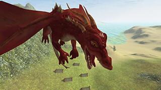 Flying Fire Drake Simulator 3D скриншот 3