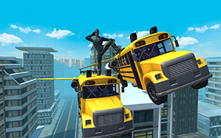 Flying Bus Simulator 2016 скриншот 4