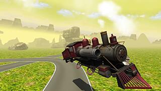 Flying Train Simulator 3D Free скриншот 2