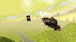 Flying Train Simulator 3D Free скриншот 3