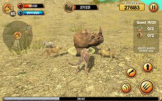 Wild Cheetah Sim 3D скриншот 2
