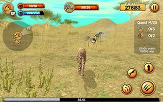 Wild Cheetah Sim 3D скриншот 4