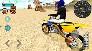 Motocross Beach Jumping 3D скриншот 1