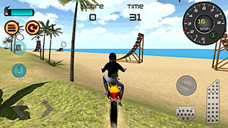 Motocross Beach Jumping 3D скриншот 3