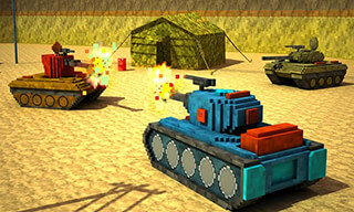Toon Tank: Craft War Mania скриншот 1