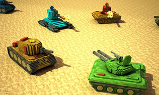 Toon Tank: Craft War Mania скриншот 2