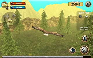 Wild Eagle Sim 3D скриншот 3