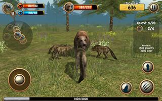 Wild Wolf Simulator 3D скриншот 2