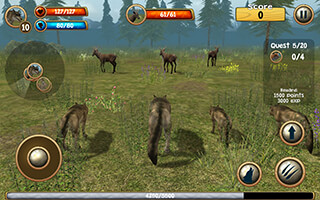 Wild Wolf Simulator 3D скриншот 3