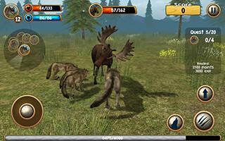 Wild Wolf Simulator 3D скриншот 4