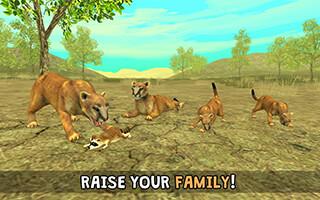 Wild Cougar Sim 3D скриншот 2