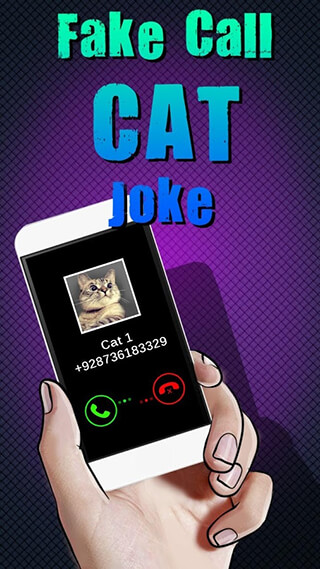 Fake Call Cat Joke скриншот 1